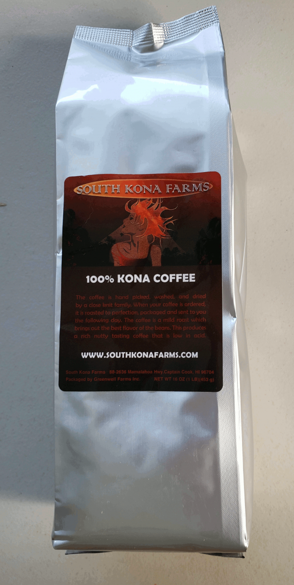 Estate 100% Kona Dark Roast Coffee Ground